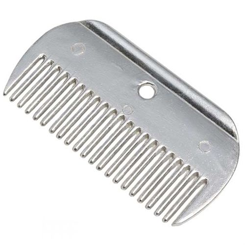 Large metal mane comb