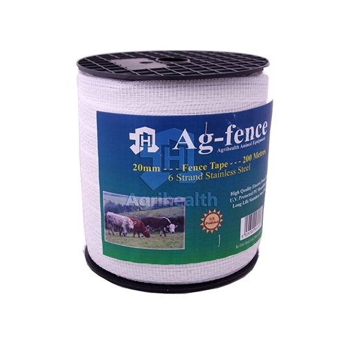 FENCEMAN TAPE WHITE 20MM 200M Electric Fence