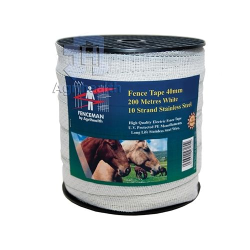 FENCEMAN TAPE WHITE 40MM 200M Electric Fence